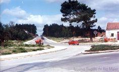 """Avenida de Portugal, Estrada do Centro de Saúde na década de 1980-1990. Foto: Jornal """"Região de Rio Maior""""   Portugal"""