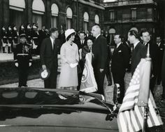 U.S. President John F. Kennedy and First Lady Jacqueline Kennedy depart at a farewell ceremony in Paris on June 2, 1961. UPI