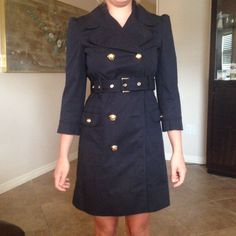 Juicy Couture S Navy Missing Two Buttons Jacket