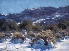 "MATT SMITH ~ ""Winter Chamisa"" (oil, 6x8)"