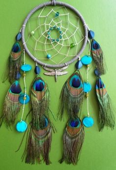 Peacock Dreamcatcher - combines so many of my loves!