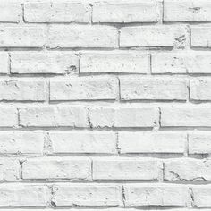 The White Brick Wallpaper from Arthouse is a classic and stylish wallcovering that brings any interior to life. This impressive non vinyl design features a stunning and realistic white brick wall pattern. Arthouse's White Brick wallcovering creates a striking feature whether hung on one focus wall or on all four and is great for a loft living or urban chic look. Product Specifications: Substrate: Paper Label: VIP Length 10.05m Width: 0.53m Weight: 0.8kg Washability: Spongeable Pasting…
