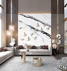 Living Room Tv Unit Designs, Home Design Living Room, Living Room Decor, Living Room Modern, Luxury Homes Interior, Home Interior Design, Interior Architecture, Drawing Room Interior, Lobby Design