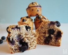 These giant happiness-inducing blueberry protein muffins are packed with healthy carbs and protein to help keep you full and satisfied.