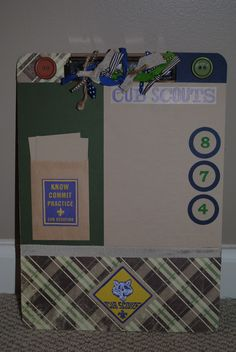 Custom Boy Scout Clipboard.  Would make a good Scrapbook Page.