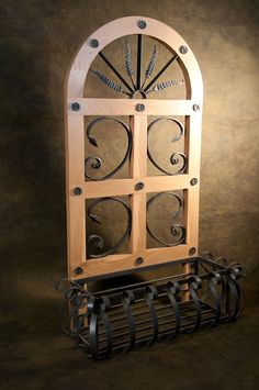 Unique, hand forged furnishings for the home and lodge. Iron Wall Art, Iron Windows, Window Boxes, Courtyards, Outdoor Projects, Backyards, Blacksmithing, Wrought Iron, Candle Sconces