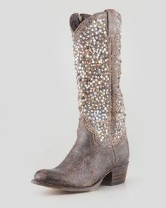 Glitter boots..I could do these
