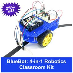 Introduce robotics with this complete classroom kit! 20 students can build robots, explore sensors, and more.