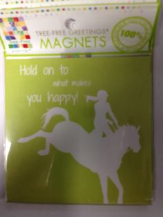 Eco friendly magnets www.ponyupequestrian.com