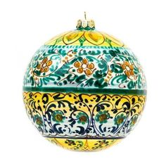 Ceramiche Liberati - Italian ceramic handmade Christmas ball, geometric decoration - Made in Italy