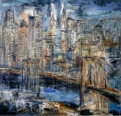Brooklyn Bridge Opus 13_Oil on Canvas_42 x 44