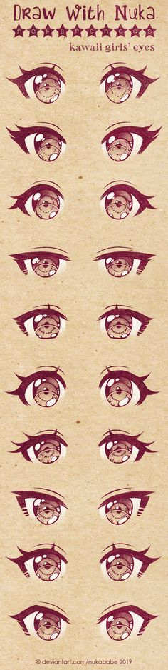 DeviantArt is the world's largest online social community for artists and art enthusiasts, allowing people to connect through the creation and sharing of art. dibujos Anime Eyes Reference by Nukababe on DeviantArt Anime Drawings Sketches, Kawaii Drawings, Cute Drawings, Pencil Drawings, Pencil Sketching, Realistic Drawings, Hipster Drawings, Anime Sketch, Drawing Eyes