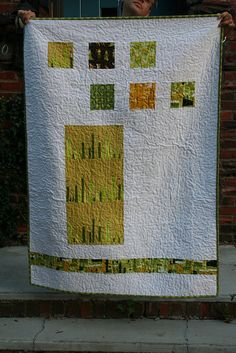 BACK  -  Castle Peeps baby quilt - back by valerie-in-wonderland, via Flickr