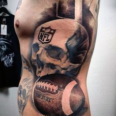 Discover the king of all sports and masters of the field with the top 70 best football tattoos for men. Tattoos For Lovers, Cool Tattoos For Guys, Top Tattoos, Sleeve Tattoos, Tatoos, Raiders Tattoos, Football Tattoo, Football Love, American Football
