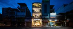 Image 3 of 25 from gallery of Rin Wedding Studio / District 1 Architects. Photograph by Quang Tran Commercial Architecture, Modern Architecture, Ho Chi Minh City, Town And Country, Big Ben, Facade, Studios, Floor Plans, Mansions