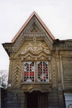 19th century Russian folk art. Like the windows! Could be reinterpreted in a modern way...