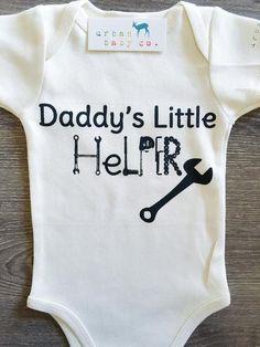 Daddy's Little Helper Baby, Boy, Girl, Unisex, Gender Neutral, Infant, Toddler, Newborn, Organic, Bodysuit, Outfit, One Piece, Onesie®, Onsie®, Tee, Layette, Onezie®