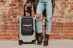 Image by Zack Rawles feat. Toiletry Bag, Carry On, Leather Bag, Mom Jeans, Overalls, Fitness, Silver, Image, Fashion