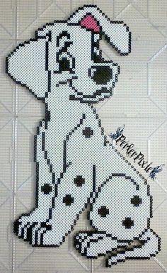 Female Dalmatian Puppy by PerlerPixie on DeviantArt Diy Perler Beads, Perler Bead Art, Pearler Beads, Cross Stitch Art, Beaded Cross Stitch, Hama Beads Patterns, Beading Patterns, Perler Bead Disney, Magazine Crafts