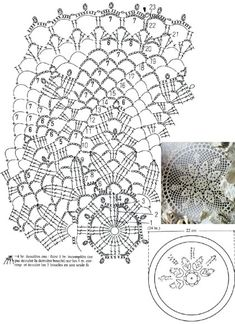 Crochet Doily Diagram, Crochet Doily Patterns, Crochet Mandala, Thread Crochet, Crochet Doilies, Crochet Flowers, Crochet Lace, Crochet Table Runner, Crochet Circles
