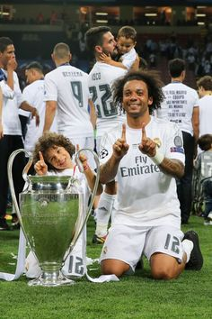 Marcelo of Real Madrid during the UEFA Champions League final. Marcelo of Real Madrid… Real Madrid Team, Real Madrid Football Club, Real Madrid Players, Soccer Guys, Football Soccer, Football Memes, Best Football Players, Soccer Players, Gareth Bale