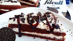 Vynikající dort inspirovaný sušenkami Oreo na fitness způsob. Čokoládové těsto s krémovou kokosovou náplní tě jednoduše dostane. Healthy Cookies, Oreos, Stevia, Tiramisu, Waffles, Breakfast, Ethnic Recipes, Fit, Basket