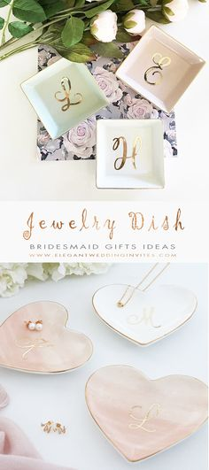 The 10 Best Bridesmaid Gifts Ideas - Personalized Jewelry Dish Bridesmaid Gifts Ideas - Bridesmaid Gifts From Bride, Bridesmaid Favors, Bridesmaid Thank You, Bridesmaid Proposal, Bridesmaid Jewelry, Wedding Bridesmaids, Brides Maid Gifts, Rustic Bridesmaids Gifts, Wedding Present Ideas