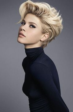 High-end hairdressing by Camille Albane, Paris, France! High-end hairdressing by Camille Albane, Paris, France! Pixie Hairstyles, Short Hairstyles For Women, Easy Hairstyles, Wedding Hairstyles, Short Hair Cuts For Women, Short Cuts, Really Short Hairstyles, 1940s Hairstyles, Updo Hairstyle