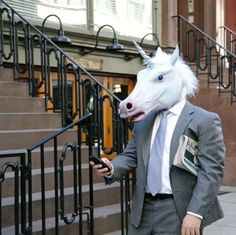 NEW-Unicorn-Horned-Horse-Head-Mask-Halloween-Costume-Theater-Prop-Latex-Mask