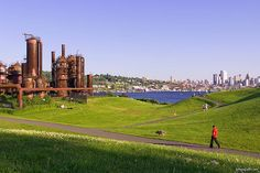 Gas Works Park Seattle by truublooo*, via Flickr