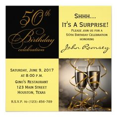20 best surprise 50th birthday party invitations images custom