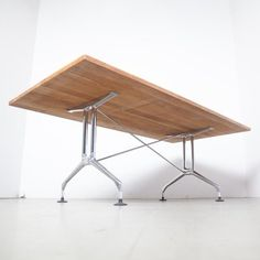 Hardwood Spatio Table by Antonio Citterio for Vitra, 1990s for sale at Pamono Milan Hotel, Vitra Design Museum, Conference Table, Design Firms, 1990s, Vintage Designs, Hardwood, Furniture Design, Upholstery