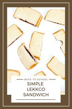 Super easy yet delicious sandwiches are great for an on-the-go, healthy snack!