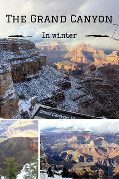 The Grand Canyon National Park in winter