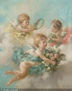 Lutyens Charles Augustus Henry Putto with garlands of flowersAngels❤Cherubs❤Seraphims