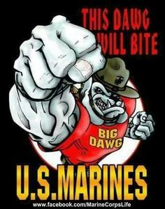 Devil Dogs will bite Once A Marine, Marine Mom, Us Marine Corps, Pitbull Terrier, Oorah Marines, Military Mom, Military Signs, Military Service, Military Humour