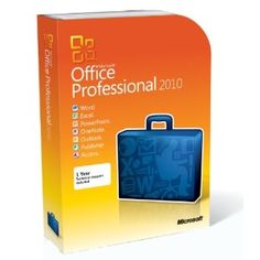 Microsoft Office Professional 2010 - 2PC/1User (Disc Version) --- http://www.amazon.com/Microsoft-Office-Professional-2010-Version/dp/B0036Z0NW6/?tag=pintrest01-20