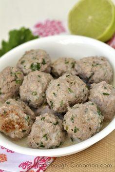 Creamy Coconut Meatballs {paleo friendly - gluten free}