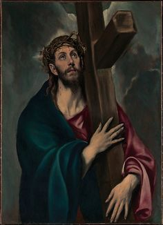 During his long career in Spain, El Greco produced numerous paintings of Christ carrying the cross. The Lehman canvas, arguably his earliest version of the subject, is not a narrative scene: no other figures are represented and the setting is not recognizable