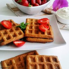 Oat waffles #zapachapetytu #oat #waffles Waffles, Breakfast, Food, Morning Coffee, Essen, Waffle, Meals, Yemek, Eten