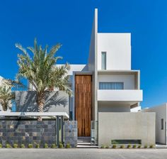 Façade extérieure de cette maison d'architecte moderne
