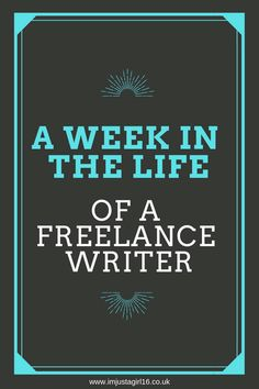 Are you interested in becoming a freelance writer? Check out my weekly itinerary of what it's like in the life of a freelance writer!