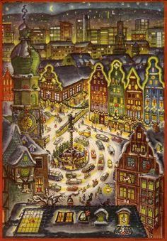 Details about Old Advent Calendar SELLMER Verlag City Lights Ursula wittkuhn- show original title Adult Advent Calendar, Christmas Calendar, Christmas Elf, Advent Calendars, Ursula, Santa Sleigh, Present Gift, City Lights, Elves