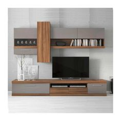 Sekcija LaItalia Bialy - Viesistabas iekārtas - Veikals - a-mebeles. Living Room Wall Units, Living Room Tv Unit Designs, Home Living Room, Tv Unit Furniture Design, Tv Unit Interior Design, Tv Unit Decor, Tv Wall Decor, Wall Tv, Wall Unit Designs