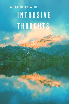 Anxiety Relief: What to do with Intrusive Thoughts What Is Anxiety, Deal With Anxiety, Anxiety Tips, Anxiety Help, Stress And Anxiety, Anxiety Relief, Stress Relief, Depersonalization, Health