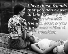 I love those friends