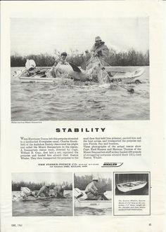 1961 Fisher- Pierce Company Boston Whaler Boats Ad- Porpoise Rescue