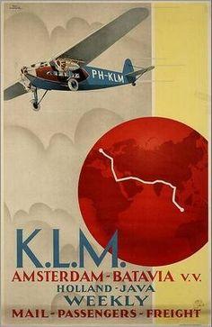 KLM – Amsterdam to Batavia