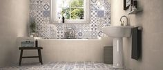 **Using same tiles on floor on walls - Calke Blue Bathroom Wall Tiles supplied by Tile Town. Discounted Moresque Effect Bathroom Wall Tiles Bathroom Floor Tiles, Kitchen Tiles, Kitchen Flooring, Tile Floor, Bathroom Shelves, Bathroom Vanities, Bathroom Tubs, Marble Floor, Morrocan Tiles Bathroom