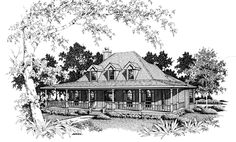 Farmhouse House Plan chp-2213 at COOLhouseplans.com